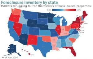 Foreclosure rate map